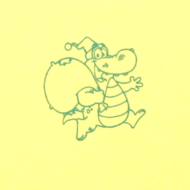 "Babetica Dubla, Galbena "" Crocodil """