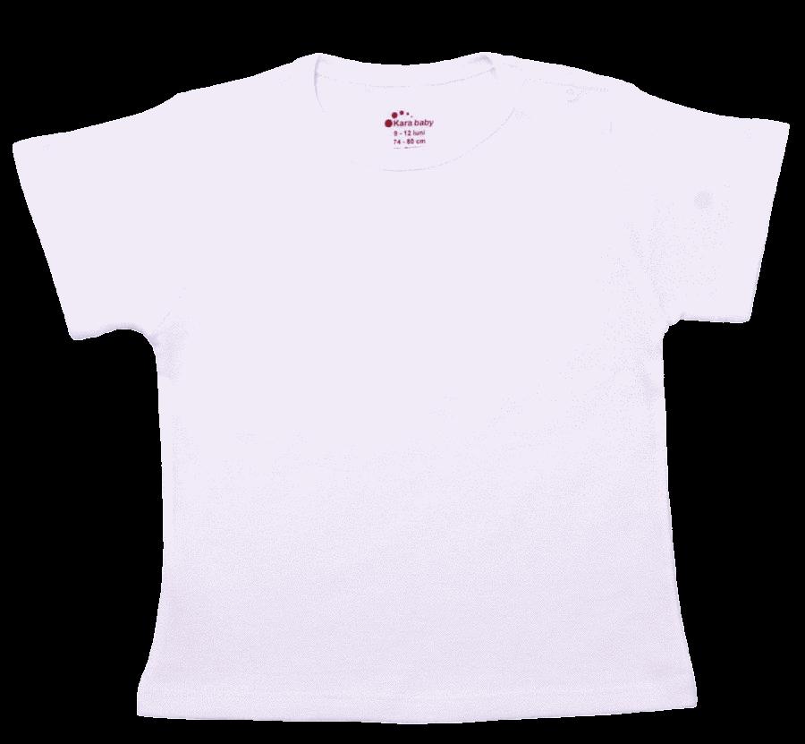 Bluza Copii Cu Maneca Scurta, Alba