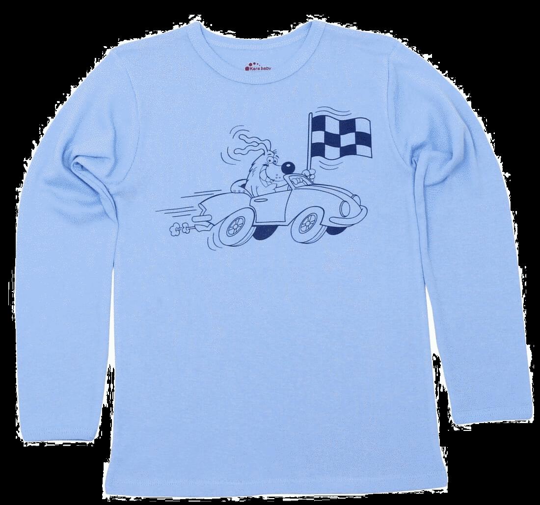 "Bluza Copii Maneca Lunga Bleu ""catel Moto"""
