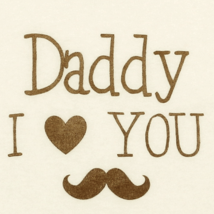 "Body Bebe Petrecut, Crem, Cu Maneca Lunga ""daddy, I Love You"""