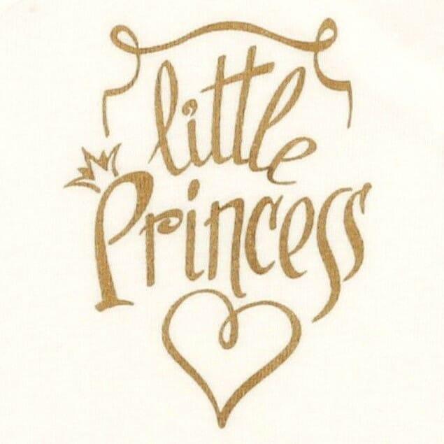 """Body Bebe Petrecut, Crem, Cu Maneca Lunga """" Little Princess """""""