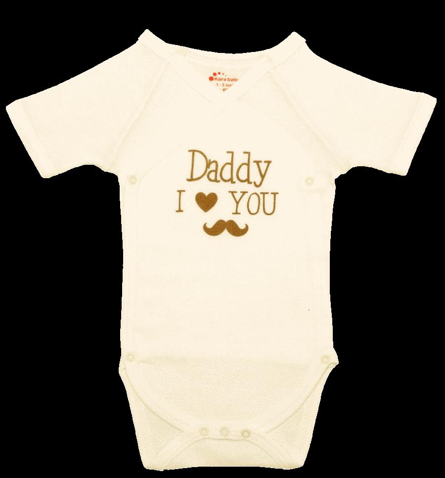 "Body Bebe Petrecut Maneca Scurta ""daddy I Love You"""