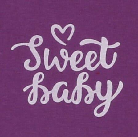 "Body Copii Cu Maneca Scurta Mov Lavanda ""sweet Baby"""