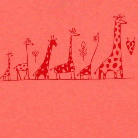 """Body Copii Maneca Scurta Somon , """" Girafe """""""
