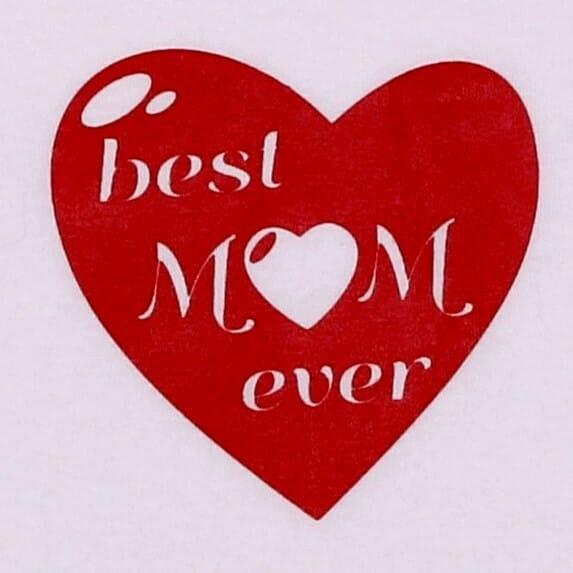 "Body Copii Maneca Scurta ""best Mom Ever"""