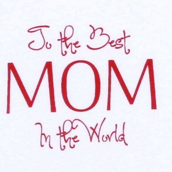 "Body Copii Maneca Scurta ""the Best Mom In The World"""