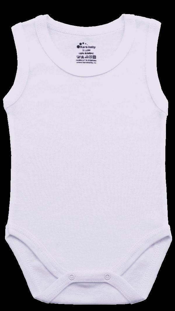 Body Copii Tip Maiou, Alb Simplu