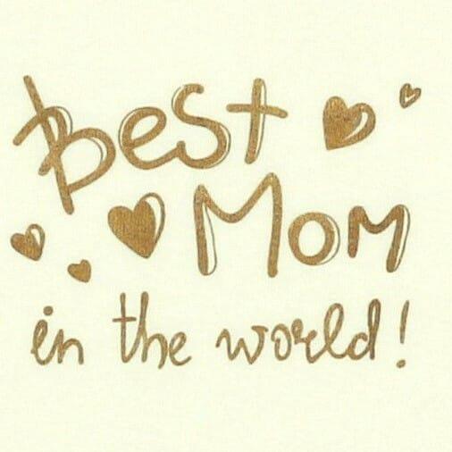 "Body Copii Tip Maiou, Crem, Mesaj ""best Mom In The World"""