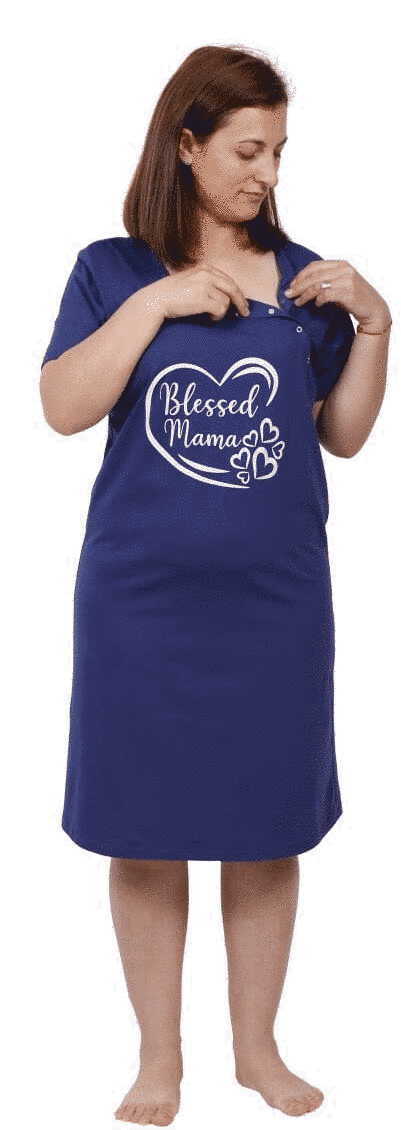 "Camasa Alaptat ""blessed Mama"", Bleumarin"