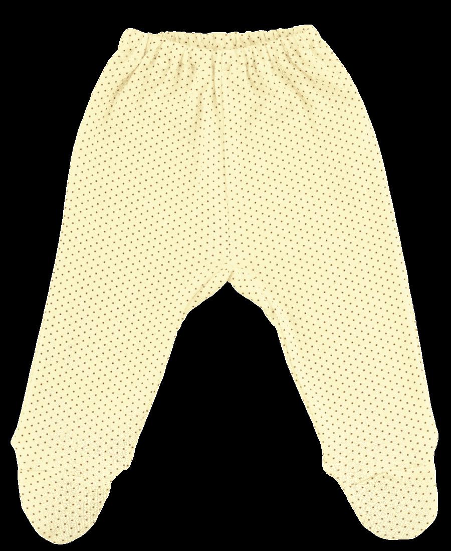 Pantalon Bebe, Cu Botosei, Crem Cu Buline Maron Aurii