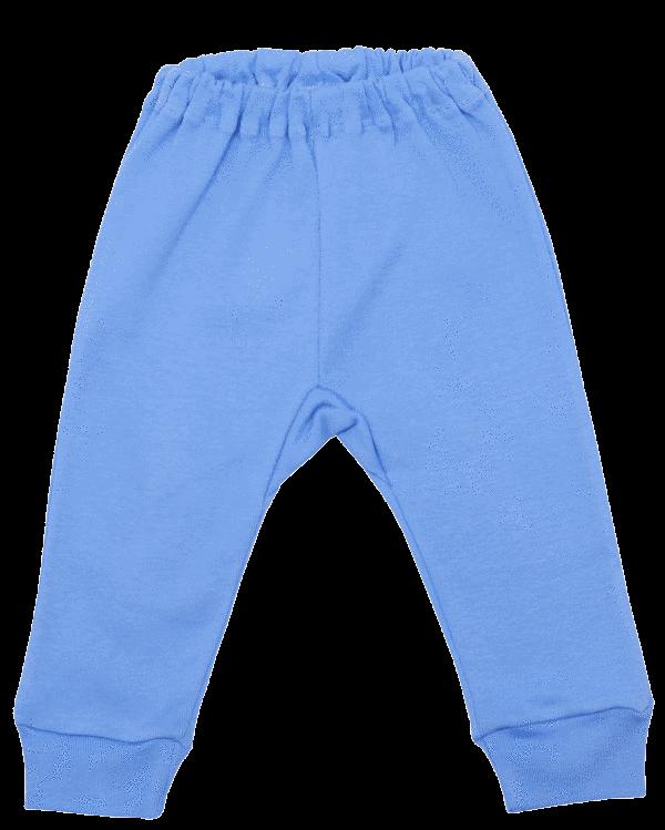 Pantalon Bebe Cu Manseta Bleu