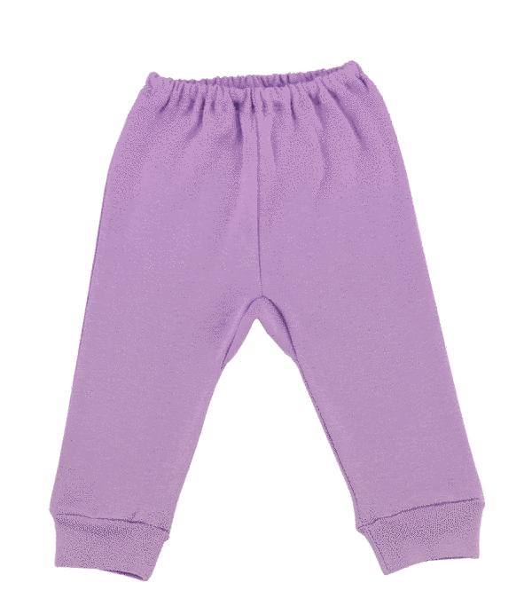Pantalon Bebe Cu Manseta Lila