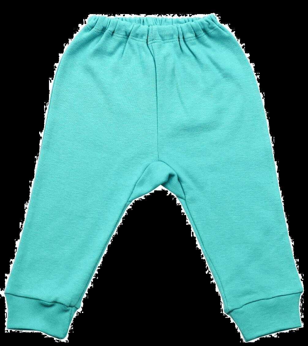 Pantalon Bebe, Cu Manseta, Verde Mint