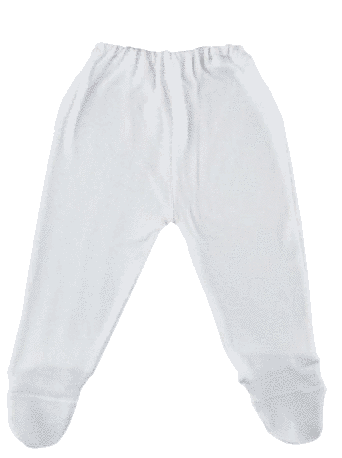 Pantalon Cu Botosei, Alb