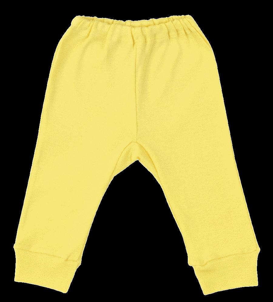Pantalon Cu Manseta Galben