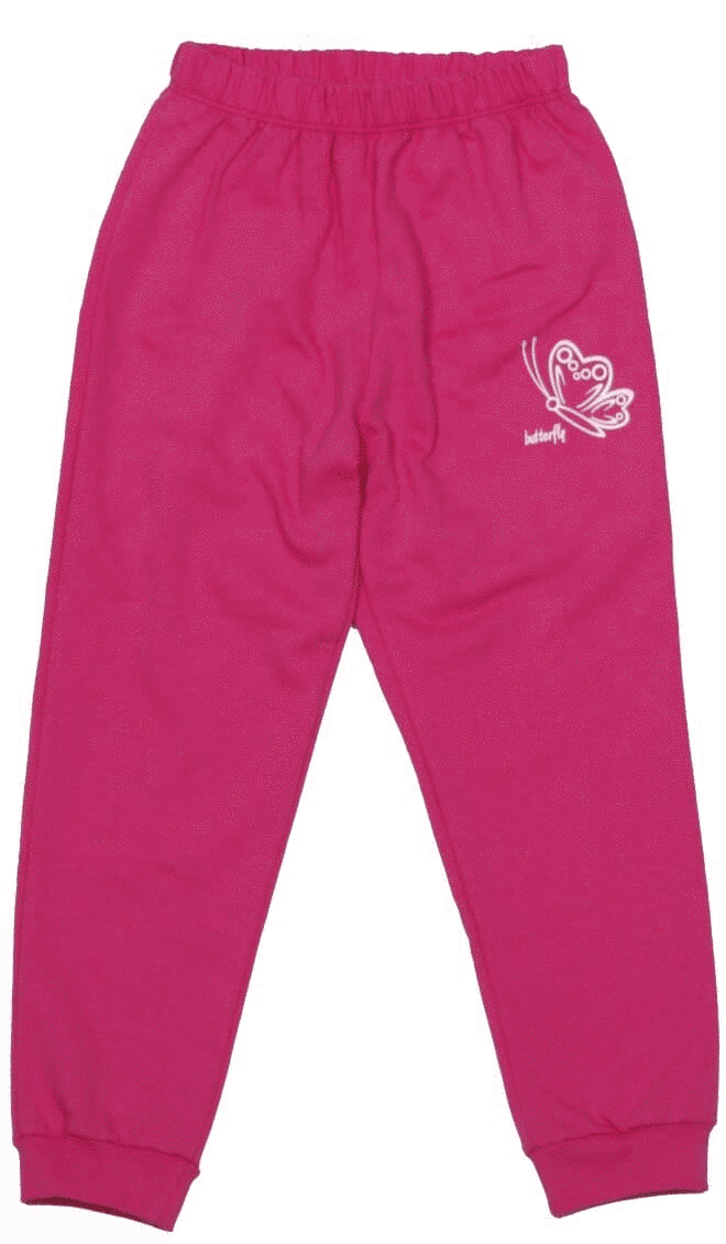 Pantalon Subtire De Trening Pentru Fete, Ciclam