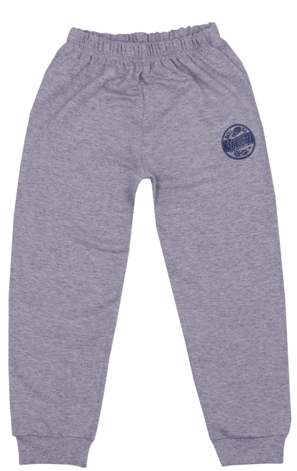 Pantalon Subtire De Trening Pentru Bebe, Gri Melanj