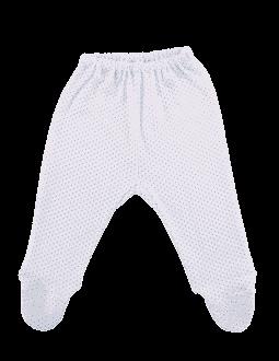 Pantalonasi Cu Botosei, Albi Cu Buline Bleu