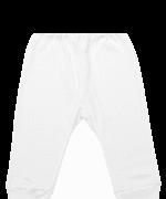 Pantaloni Bebe Cu Manseta Albi