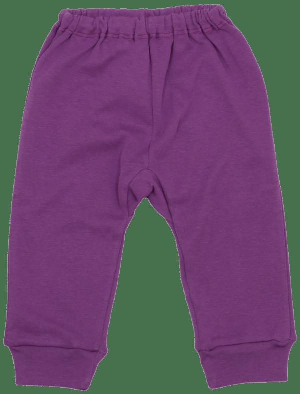 Pantaloni Bebe Cu Manseta, Mov Lavanda