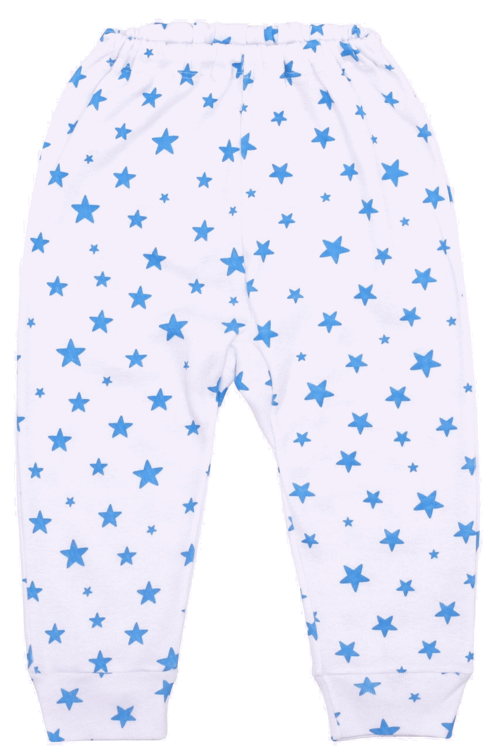 Pantaloni Bebe Cu Manseta, Stelute Albastre