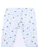 Pantaloni Bebe Cu Manseta, Urme Pasi Colorate