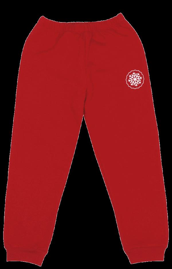 Pantaloni Vatuiti De Trening Pentru Copii, Rosii