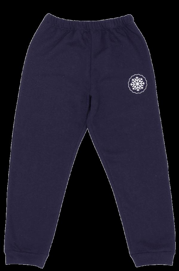 Pantaloni Vatuiti De Trening Pentru Bebe, Bleumarin