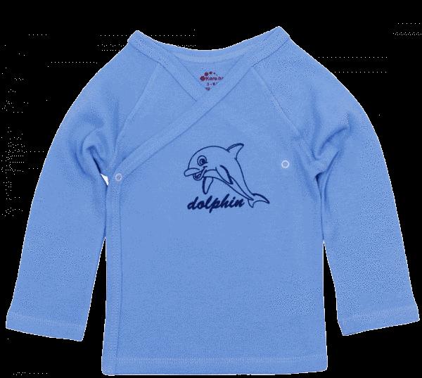 """Pieptaras Bebe Maneca Lunga, Bleu, """"delfin"""""""