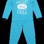 "Pijama Copii, Cu Maneca Lunga, Turqois ""wild And Free"""