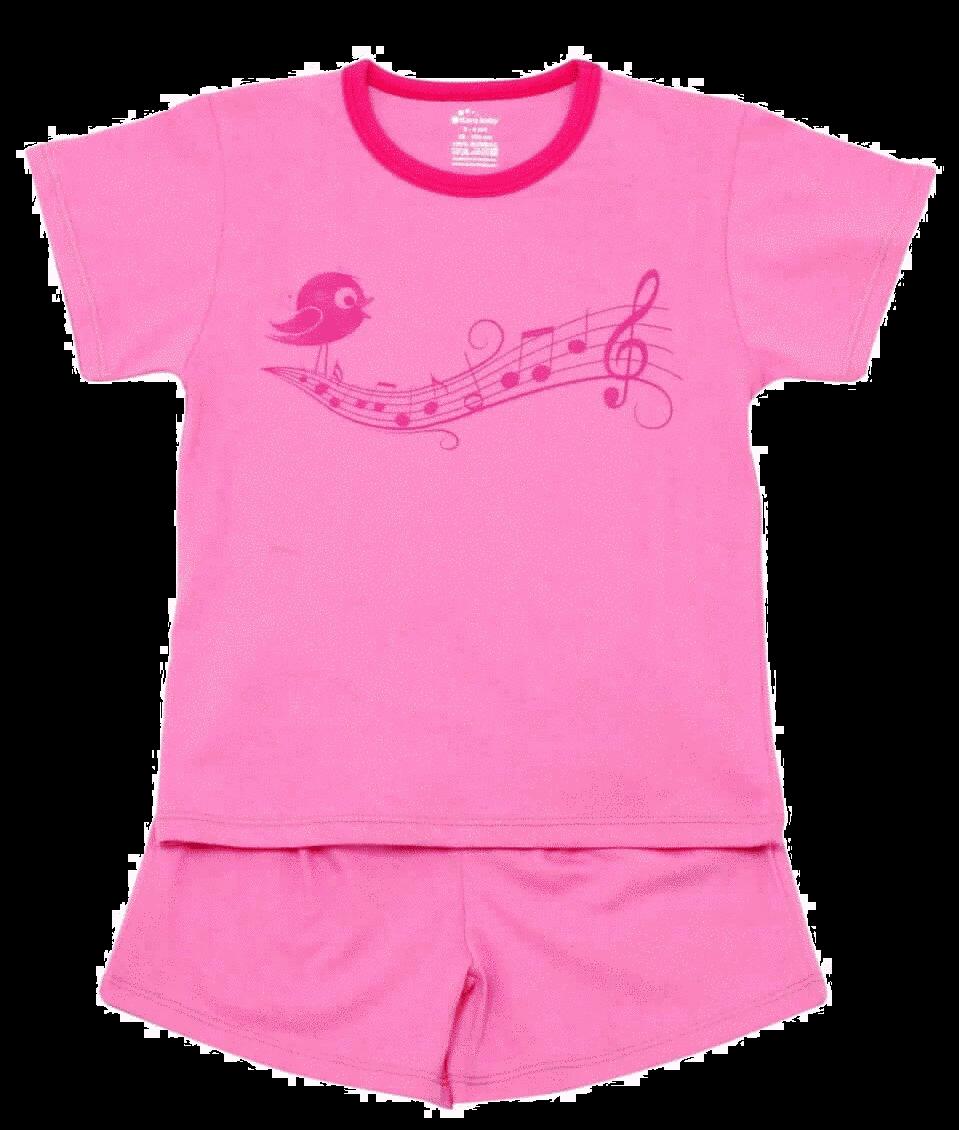 "Pijama De Vara Pentru Bebe, Roz ""portativ"""