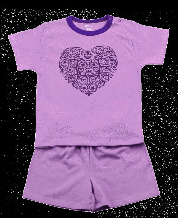 Pijama De Vara Pentru Copii De Culoare Lila