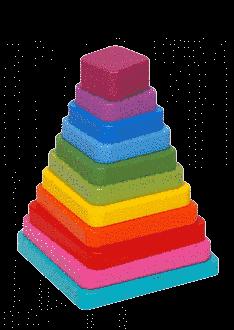 Piramida Din Elemente Patrate