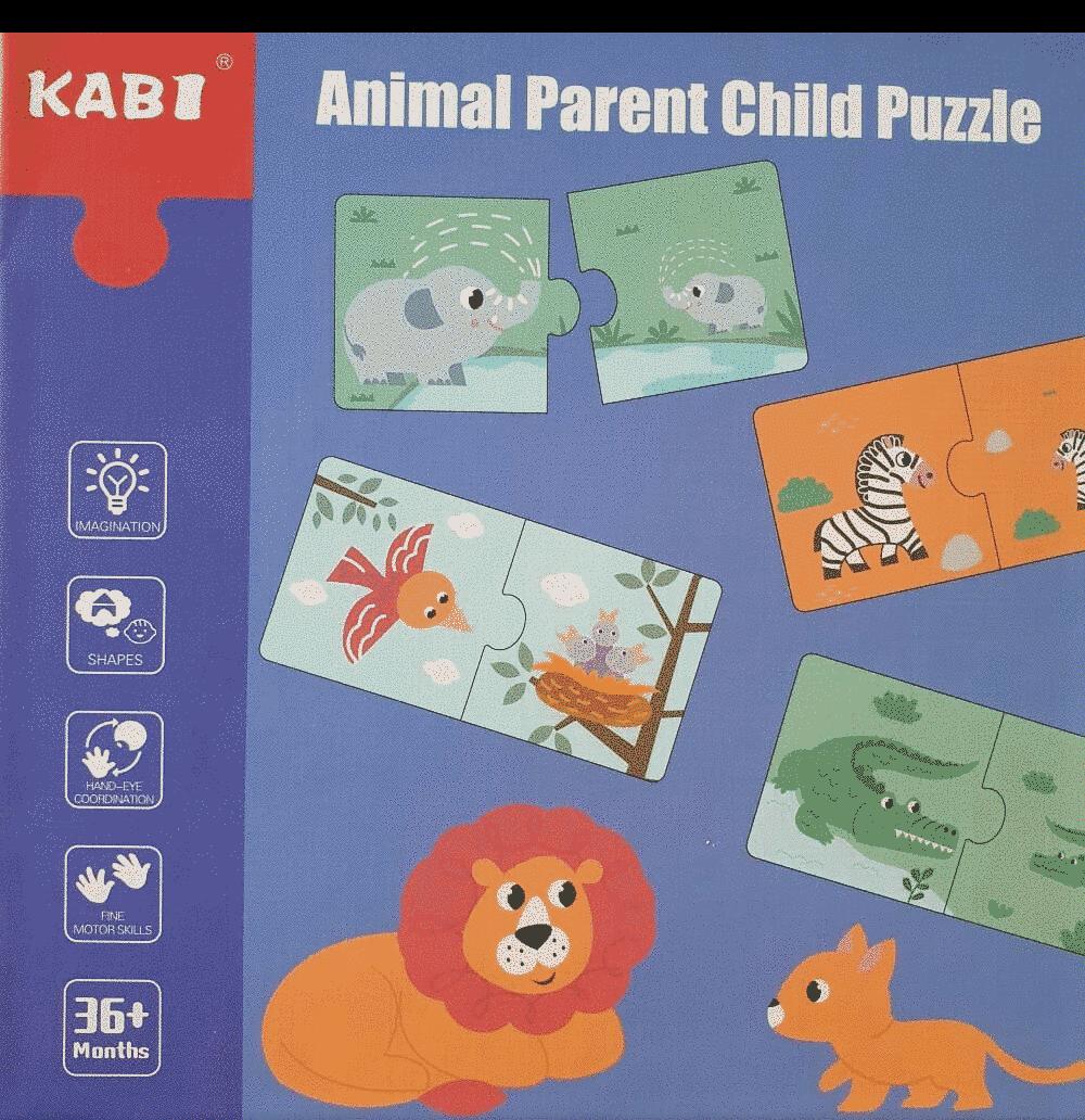"Puzzle Bebe ""animal Parent Child"""