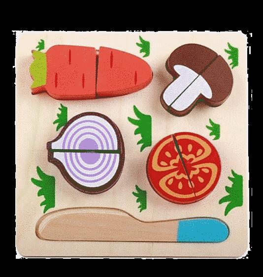 Puzzle Din Lemn, In Relief, Fructe