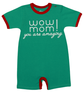 "Salopeta Bebe Pentru Vara, Verde, ""wow Mom"""