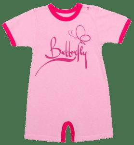 "Salopeta Vara Bebe, Roz, ""butterfly"""
