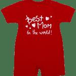 "Salopeta Vara Pentru Bebe, Rosie, ""best Mom"""