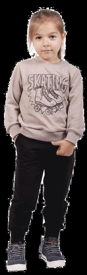 """Trening Copii, Bumbac, """"roller Skating"""", Bej Si Negru"""