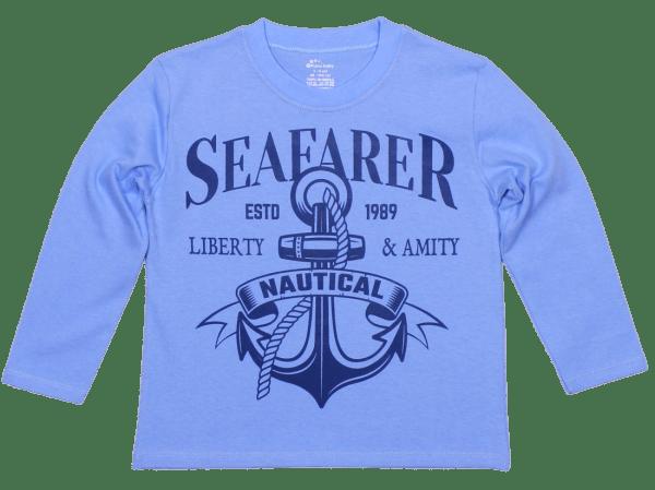 "Tricou Bebe, Cu Maneca Lunga, Bleu, ""seafarer"""