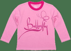 "Tricou Bebe, Cu Maneca Lunga, Roz, ""butterfly"""