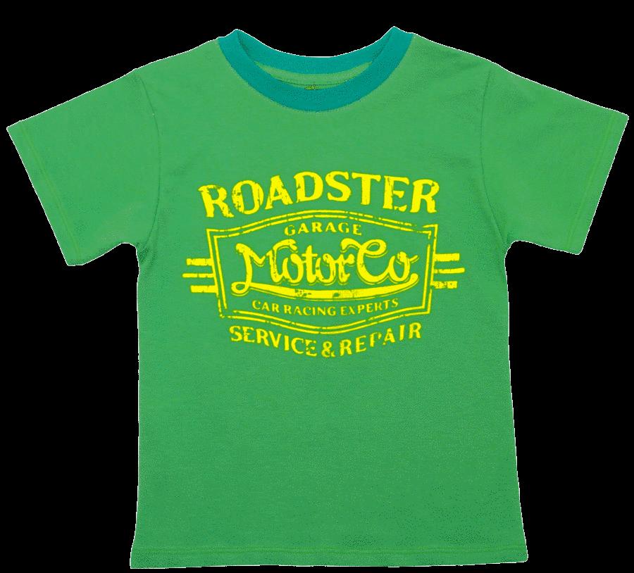 Tricou Copii Maneca Scurta, Verde, Roadster