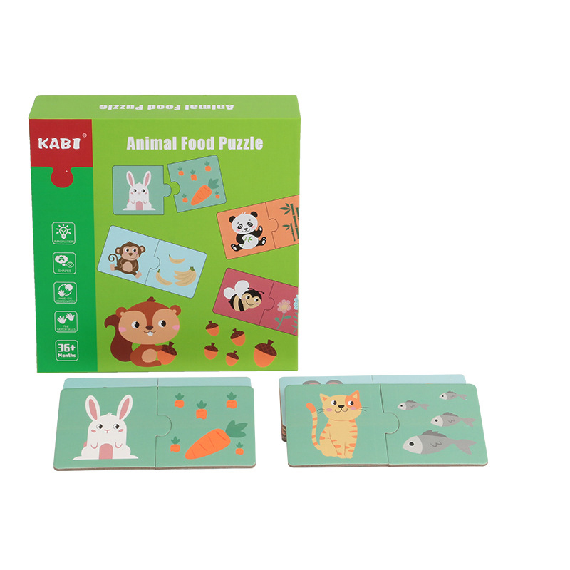 "Puzzle bebe ""Animal food"""