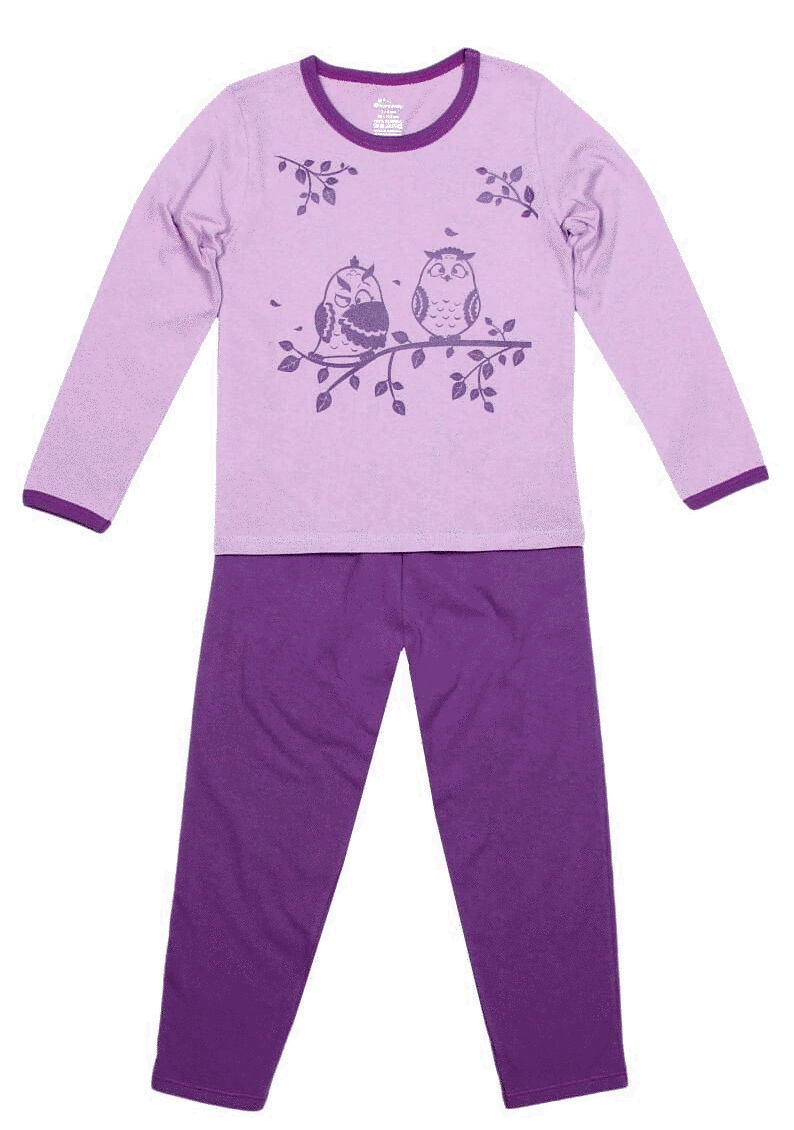 Pijama Copii, Cu Maneca Lunga, Lila/lavanda