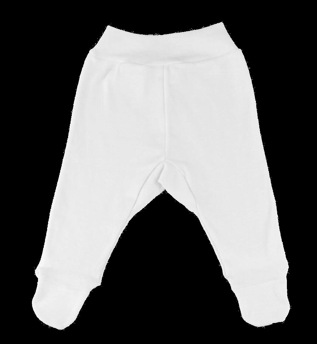 Pantaloni cu botosei, pentru prematuri, albi