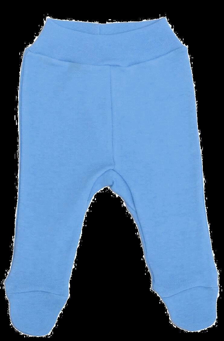 Pantaloni cu botosei, pentru prematuri, bleu