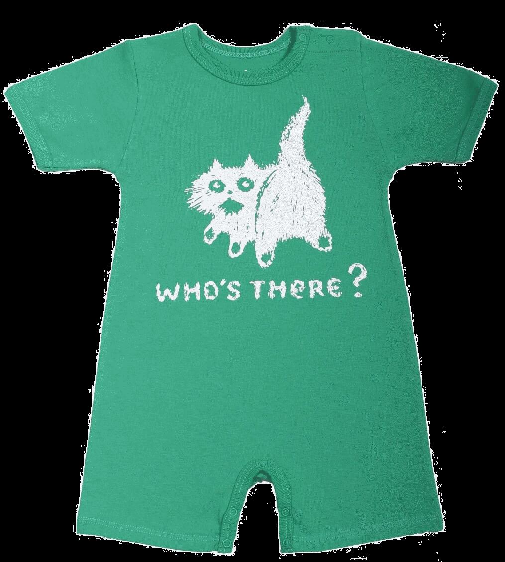 """Salopeta bebe pentru vara, verde, """"pisica"""""""