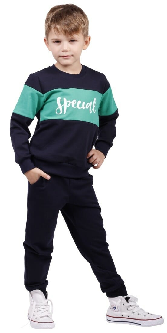 "Bluza Basic "" Special"",bleumarin/verde"