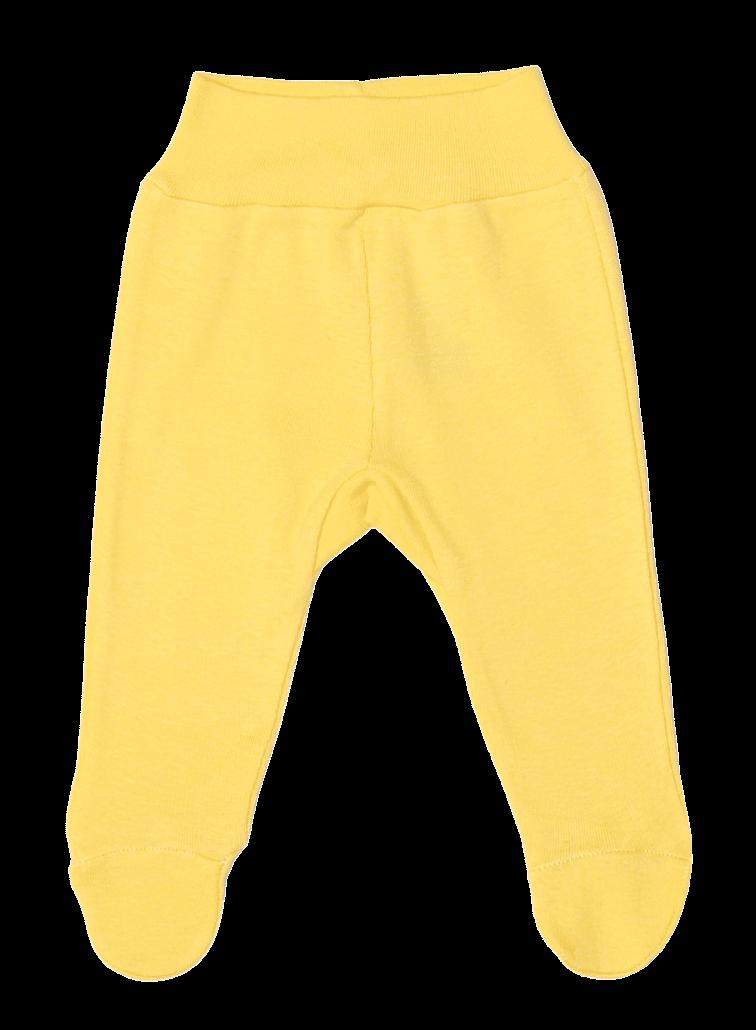 Pantaloni cu botosei, pentru prematuri, galbeni