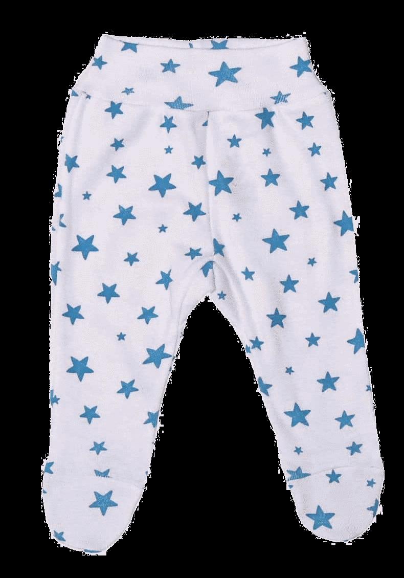 """Pantaloni cu botosei, pentru prematuri, """"stelute turqois"""""""